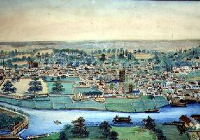 View of a Town and River c.1830  on