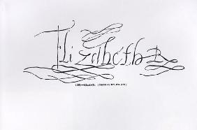 Signature of Queen Elizabe...