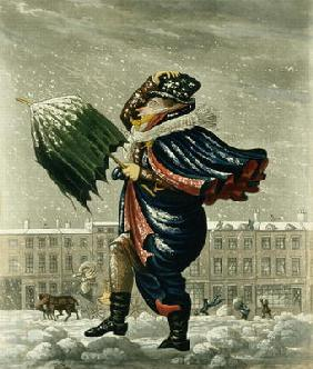 A Merry Christmas and a Happy New Year in London, engraved by G. Hunt, 1827 (colour litho)