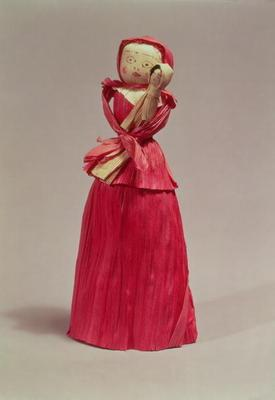 31:Corn husk doll, Victorian, c.1880 17th