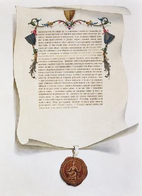 Facsimile edition of the Magna Carta, first published in 1225, 1816 (vellum) 19th