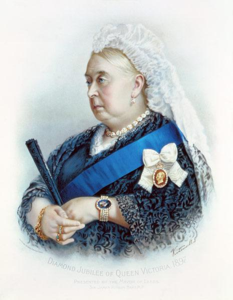 Diamond Jubilee of Queen Victoria (1819-1901) 1897 (coloured print)