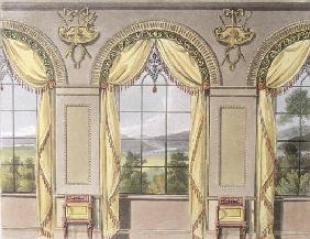 Dining room, plate 88 from Ackermann's Repository of Arts, published 1816 (colour litho) 1856