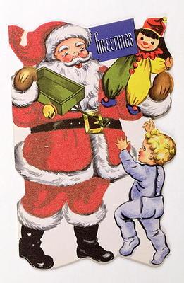 Father Christmas, Victorian Christmas card (colour litho) 19th