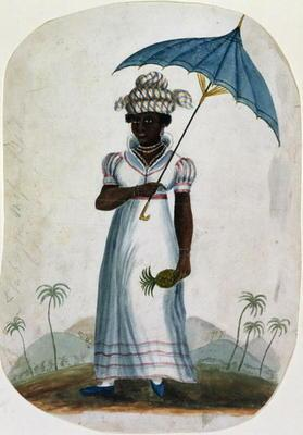 Lady with a Parasol and a Pineapple, c.1840 (w/c on paper) 19th