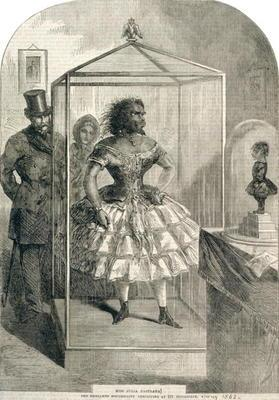 Miss Julia Pastrana, The Embalmed Nondescript, Exhibiting at 191 Piccadilly, 1862 (engraving) 1667