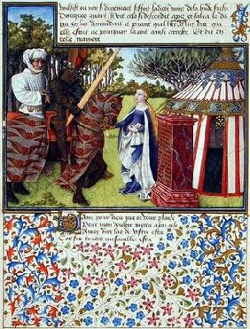 Ms. 2597 Heart and Desire with Hope at his House, facsimile edition of 'Livre du Coeur d'Amours Espr 17th