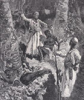 Murdering Slaves That Become Exhausted, from 'Heroes of the Dark Continent', c.1880 (engraving) 17th