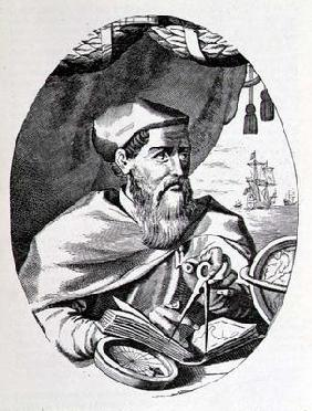 Portrait of Amerigo Vespucci (1454-1512) from 'The Narrative and Critical History of America', edite 1858