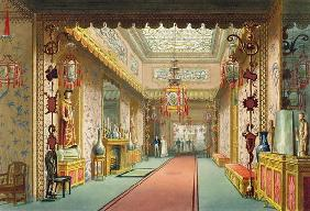 The Chinese Gallery, from 'Views of the Royal Pavilion, Brighton' by John Nash (1752-1835), 1826 (aq 19th