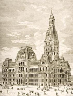 The City Hall, Chicago, c.1870, from 'American Pictures' published by the Religious Tract Society, 1 18th