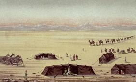 The Desert Camp of Sir Richard Burton (1821-90) (pastel on paper) 19th