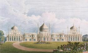 The East Front, from 'Views of the Royal Pavilion, Brighton' by John Nash (1752-1835) 1826 (aquatint 1779