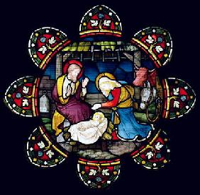 The Nativity (stained glass) 1900