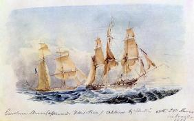 The Slaver 'Carolina' (afterwards HMS 'Fawn') captured in 1838 by the 'Electra' with 350 Slaves on B 1903