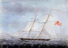 The Slaver 'Teresa', Taken by HMS 'Pelorus' on the Coast of Africa, 1832 (w/c on paper) 1752
