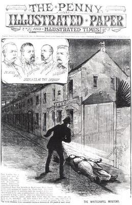 The Whitechapel Mystery, from 'The Penny Illustrated Paper', 8th September 1888 (engraving) (b&w pho 19th