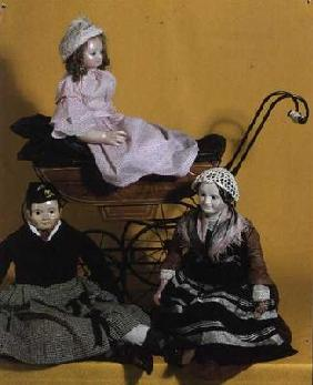 Victorian dolls, Rosa Mary, Sandy and the Nurse 19th