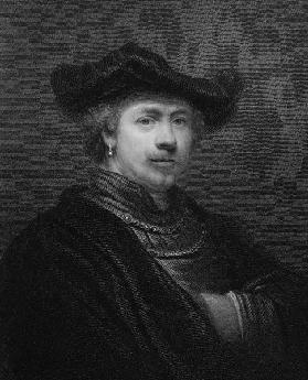 Rembrandt Harmens van Rijn from 'The Gallery of Portraits' 1833