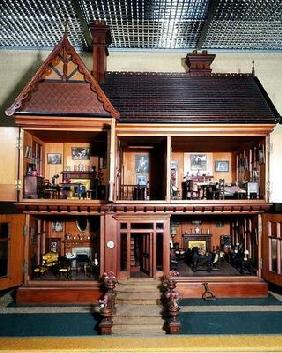 Doll's house purchased and furnished by Queen Mary, made by Ascroits of Liverpool, c.1920 (mixed med 1895
