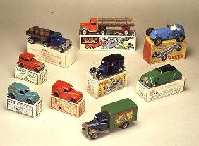 Collection of Minic cars, made by Lines Brothers, London, 1936-40 (tin) 1891