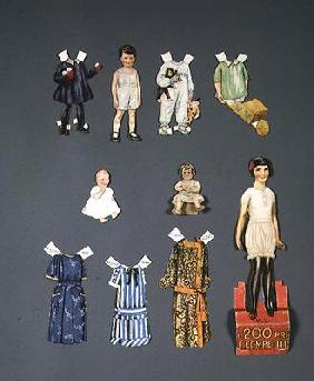 Cut out doll and clothes, late 1920s-early 1930s (colour litho) 16th