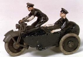 Model of motorcycle by J.Hill & Co., c.1938 (painted metal)