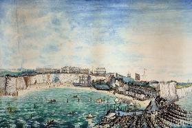 View of the Beach and Harbour at Broadstairs, Kent c.1830