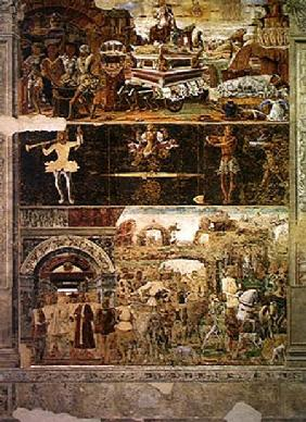 The Month of September: The Triumph of Vulcan and the Sign of Libra, from the Room of the Months 1467-70