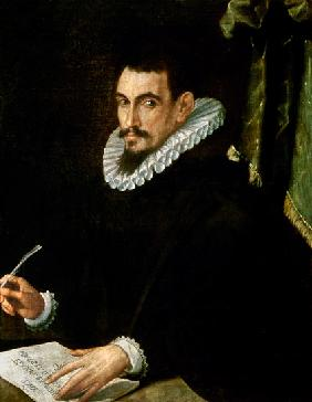 Kunstdruck von Ercole dell' Abbate - Portrait of a Scholar (Giacomo Castelvetro)