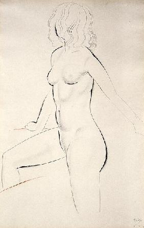 Standing Female Nude, 1927 (pencil and sanguine on paper)