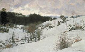 Winter im Riesengebirge 1889
