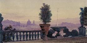 A View of Florence from the Surrounding Hills 1904