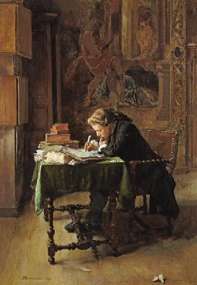 Young Man Writing 1852