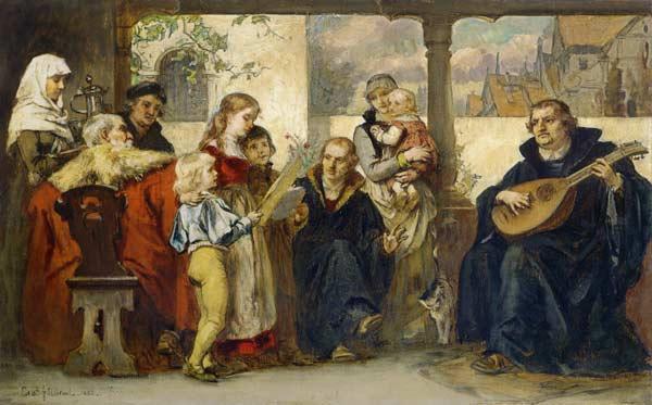 Martin Luther Im Kreise Seiner Familie M Ernst Hildebrandt Als