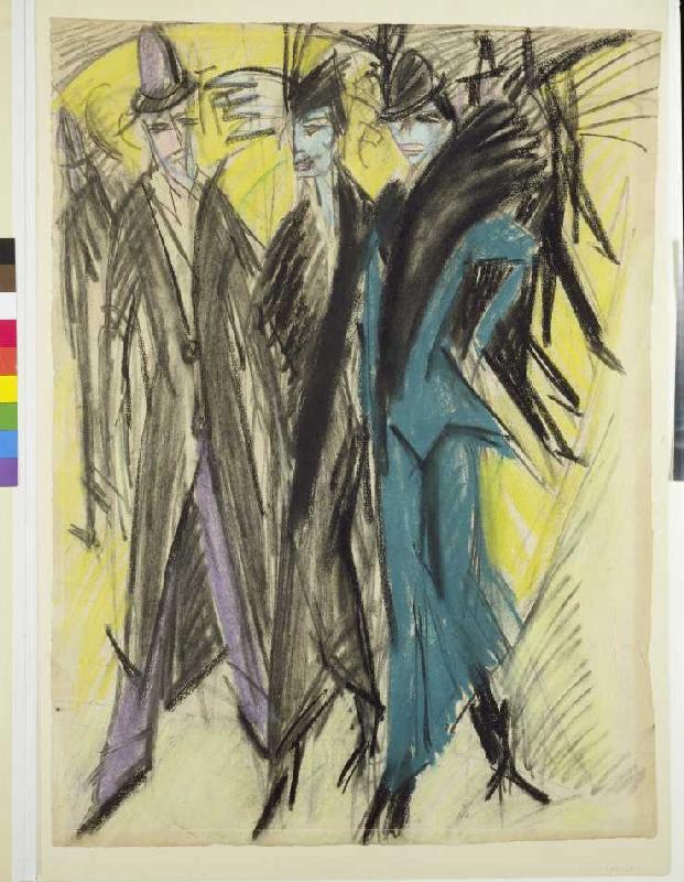 Berliner Straßenszene - Ernst Ludwig Kirchner als Kunstdruck oder ...