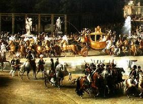The Entry of Napoleon (1769-1821) and Marie-Louise (1791-1847) into the Tuileries Gardens on the Day 2nd April