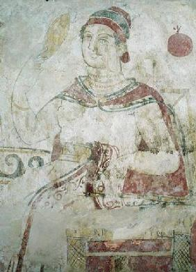 Woman at her toilet, detail from a funerary scene, Samnite Period 5th-4th ce