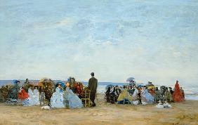 Beach Scene near Trouville c.1863-66