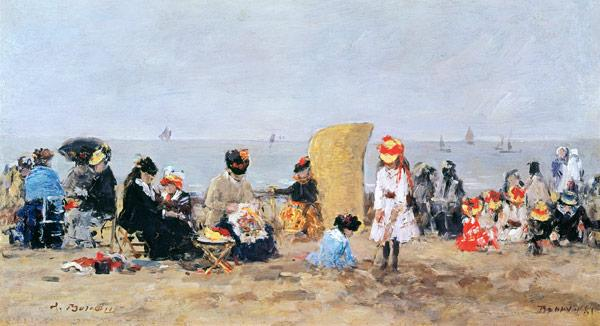 Beach Scene, Trouville 1881