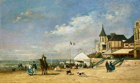 The Beach at Trouville 1863