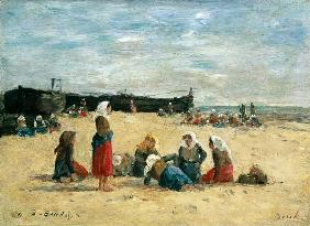 Berck, Fisherwomen on the Beach 1876