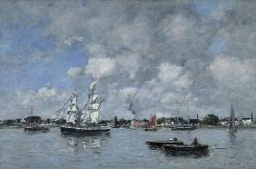 Bordeaux, Boats on the Garonne 1876