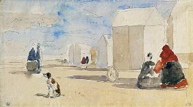 By the Bathing Machines 1866  on