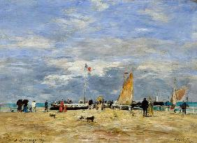 The Jetty at Deauville 1869