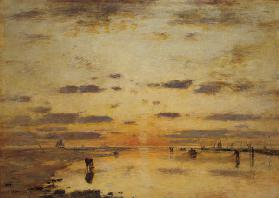 Low Tide and Sunset 1885