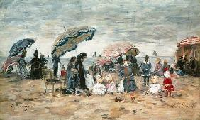 Parasols on the Beach, Trouville 1886