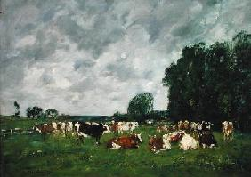 Pasture in Fervaques or, Cows in a Pasture 1874