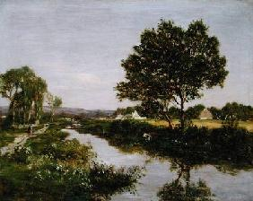 River on the Outskirts of Quimper 1854-57