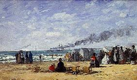 Strandleben in Trouville 1868